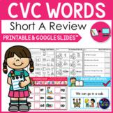 CVC Words Worksheets -Short A Activities Kindergarten First Grade Google Slides™