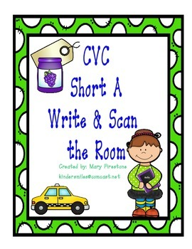 CVC Short A Write the Room with QR Codes