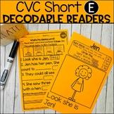 CVC Short E Decodable Books