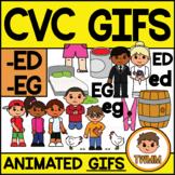CVC Short E GIFs l -ED & -EG Word Families  l TWMM Clip Art