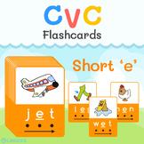 CVC Short E - Printable Flashcards   Learn & Practice CVC words