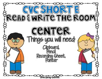 CVC Short E Read and Write the Room Center