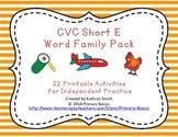 CVC Short E Word Family Pack