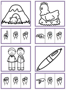 CVC Short E Words (Sign Language)