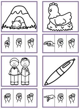 CVC Short E Words (Sign Language)