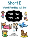 CVC Short E Worksheet Set