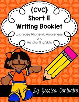 CVC Short E Writing Book