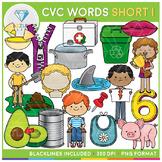 CVC Short I Clip Art - CVC Short Vowels Clip Art