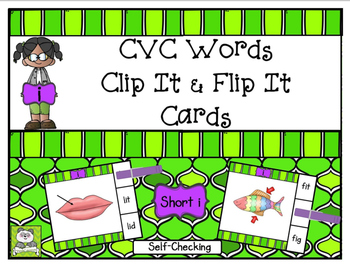 CVC Short I Clip It & Flip It Cards