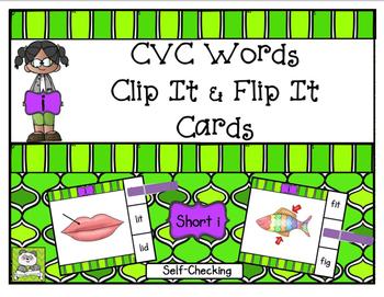 CVC Short I Clip It & Flip It Cards