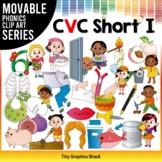CVC Short I Movable Phonics Clip Art