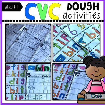 CVC Short I Playdough Mats, Recording Sheets and Printables