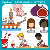 CVC Short I Vowel Clip Art - IG Words