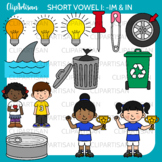CVC Short I Vowel Clip Art - IM and IN Words