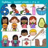 CVC Short I Vowel Clip Art - IT and IX Words