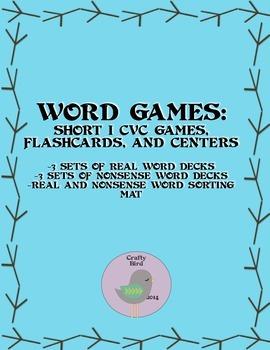 CVC Short I Vowel Unit Games