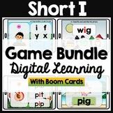 CVC Short I Words Phonics Boom Cards Distance Learning