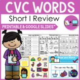 CVC Words Worksheets -Short I Activities Kindergarten First Grade Google Slides™