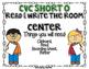 CVC Short O Read and Write the Room Center