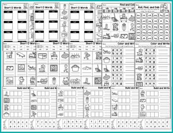 CVC Worksheets - Short O Activities