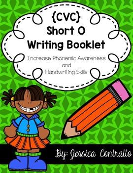 CVC Short O Writing Book