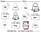 CVC Short O center or activity Holiday Fun