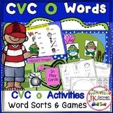 CVC Short O Literacy Center Work: Frog Fun! {EDITABLE}