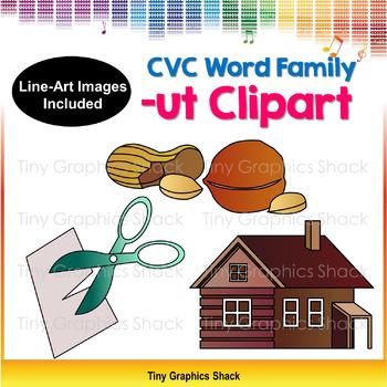 CVC Short U Clipart (word family -ut)