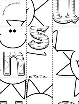 CVC Short U Phonics Puzzle Pack