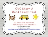 CVC Short U Word Family Pack