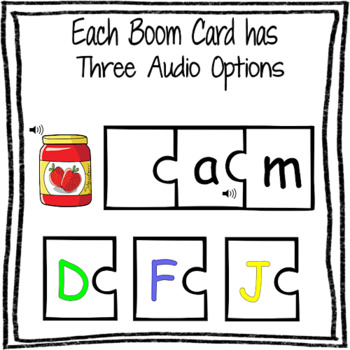 "CVC Short Vowel ""A"" BOOM DECK with AUDIO and PDF Printable Worksheets"