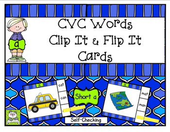 CVC Short A Clip It & Flip It Cards