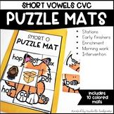 CVC Short Vowel Activities | Puzzle Mats
