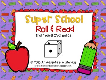CVC Short Vowel Back to School Roll & Read