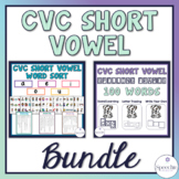 CVC Short Vowel Bundle - Sorting, Identifying and Spelling