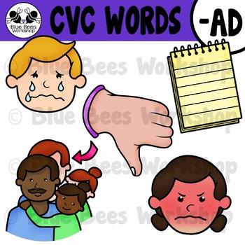 CVC Short Vowel Clip Art - AD