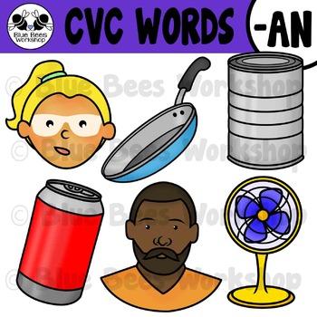 CVC Short Vowel Clip Art - AN