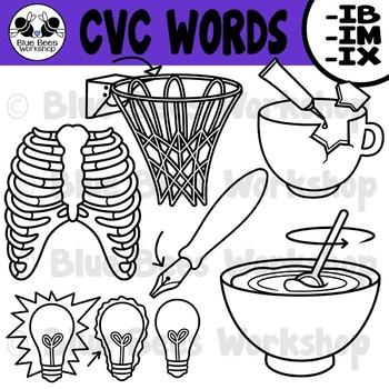 CVC Short Vowel Clip Art - IB, IM, IX
