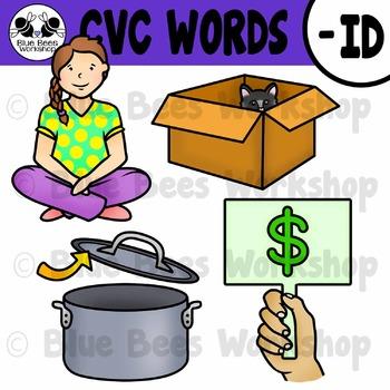 CVC Short Vowel Clip Art - ID