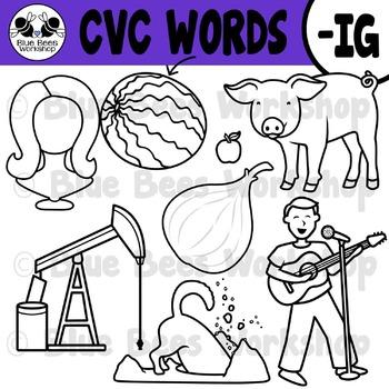 CVC Short Vowel Clip Art - IG