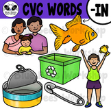 CVC Short Vowel Clip Art - IN