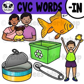 CVC Short Vowel Clip Art - IN