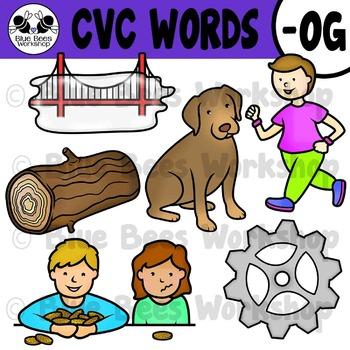 CVC Short Vowel Clip Art - OG