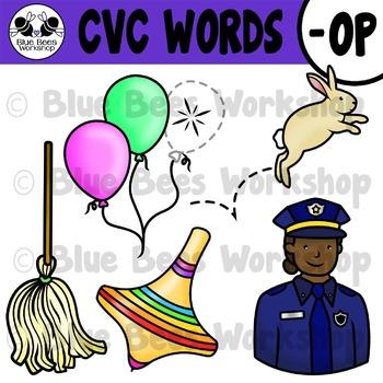 CVC Short Vowel Clip Art - OP