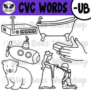 CVC Short Vowel Clip Art - UB