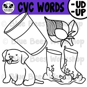 CVC Short Vowel Clip Art - UD UP