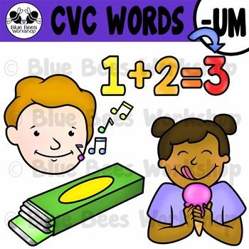CVC Short Vowel Clip Art - UM