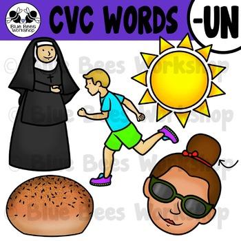 CVC Short Vowel Clip Art - UN