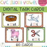 DIGITAL CVC Words Flash Cards | Task Cards