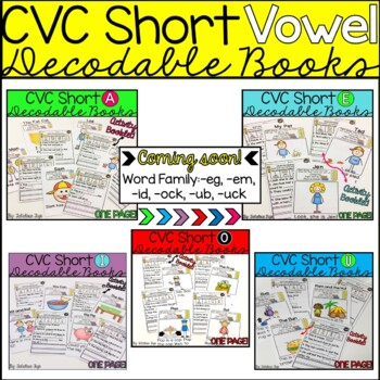 CVC Short Vowel Book Bundle